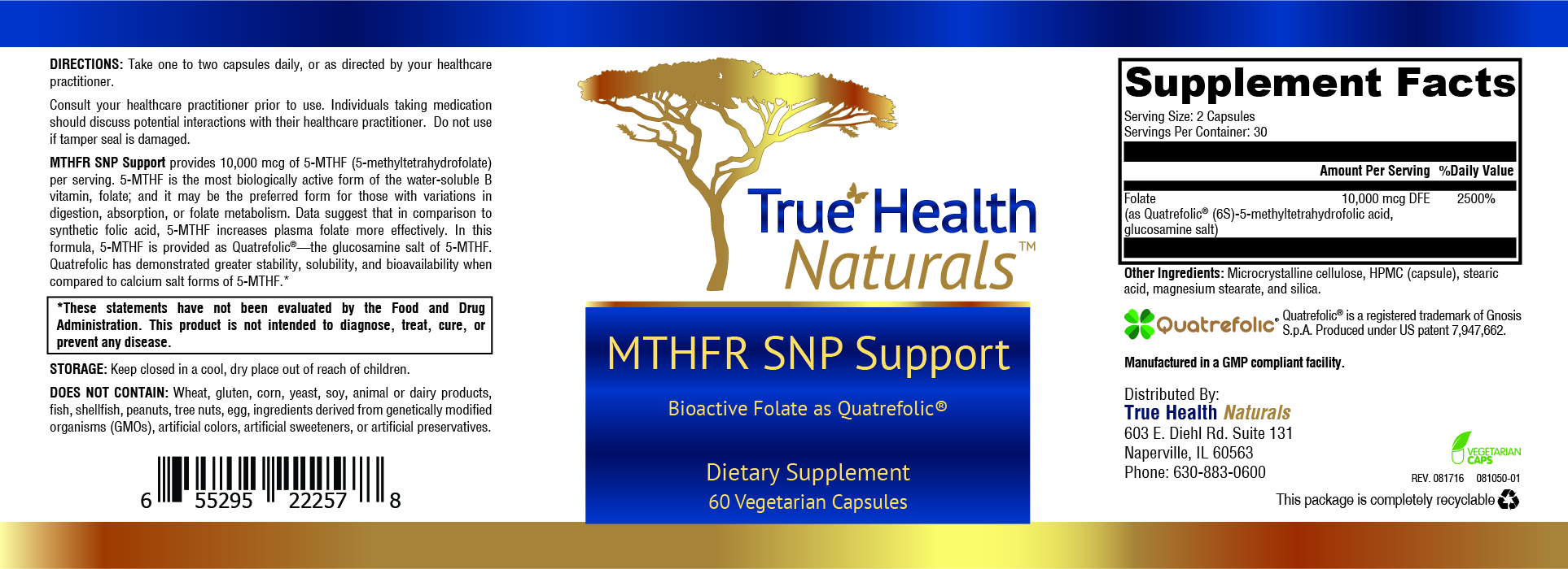 MTHFR SNP Support label