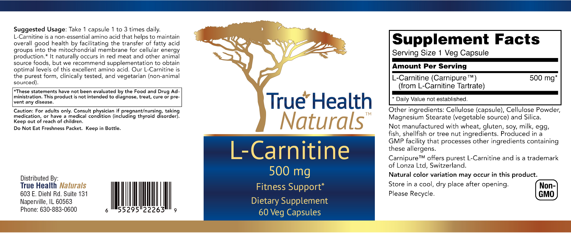 L-Carnite Veg Capsule Label