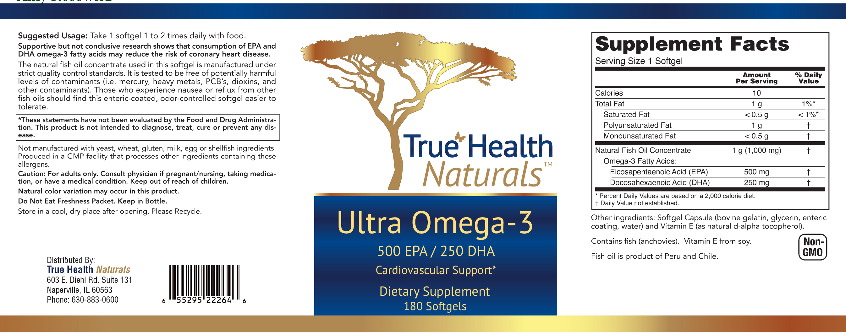 Ultra Omega 3 label