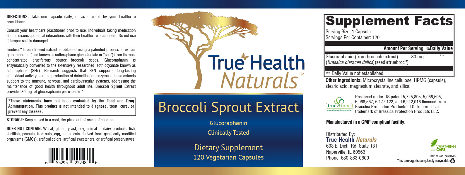 Broccoli Sprout Extract Label
