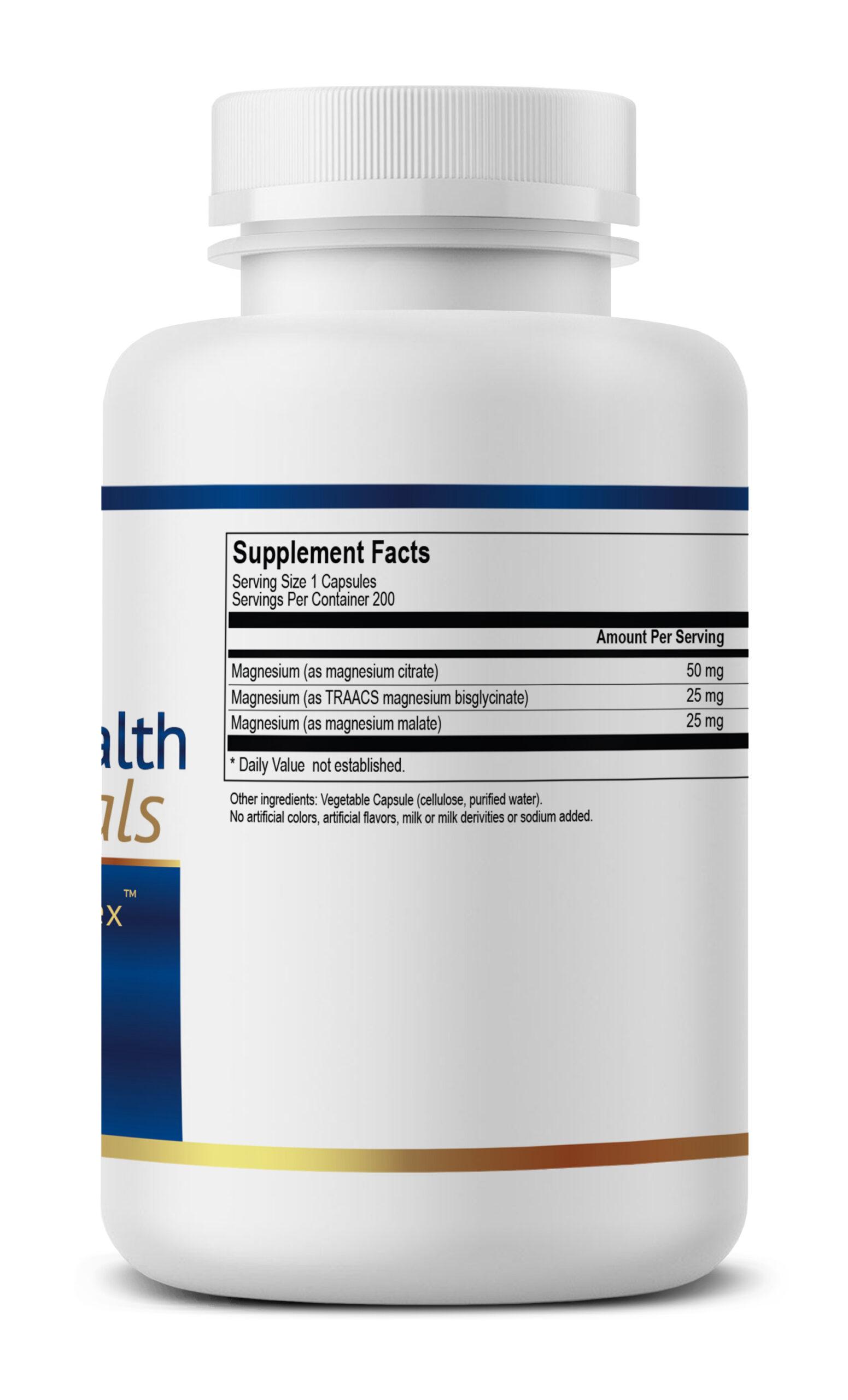 True Magnesium Complex Supplement facts