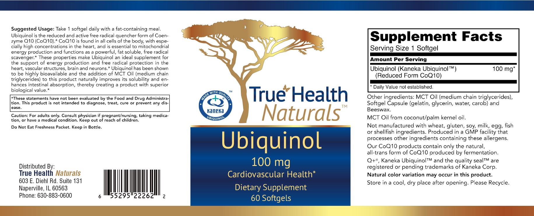 Ubiquinol Soft gels Label