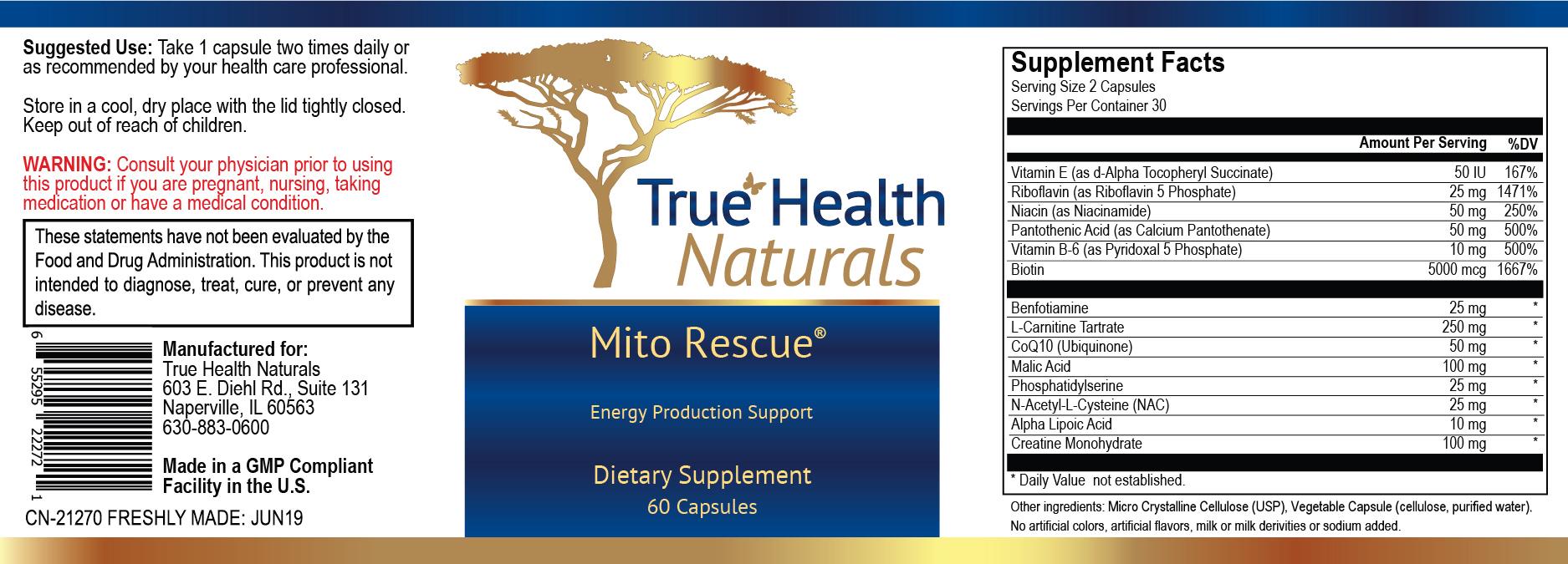 Mito Rescue Label Print