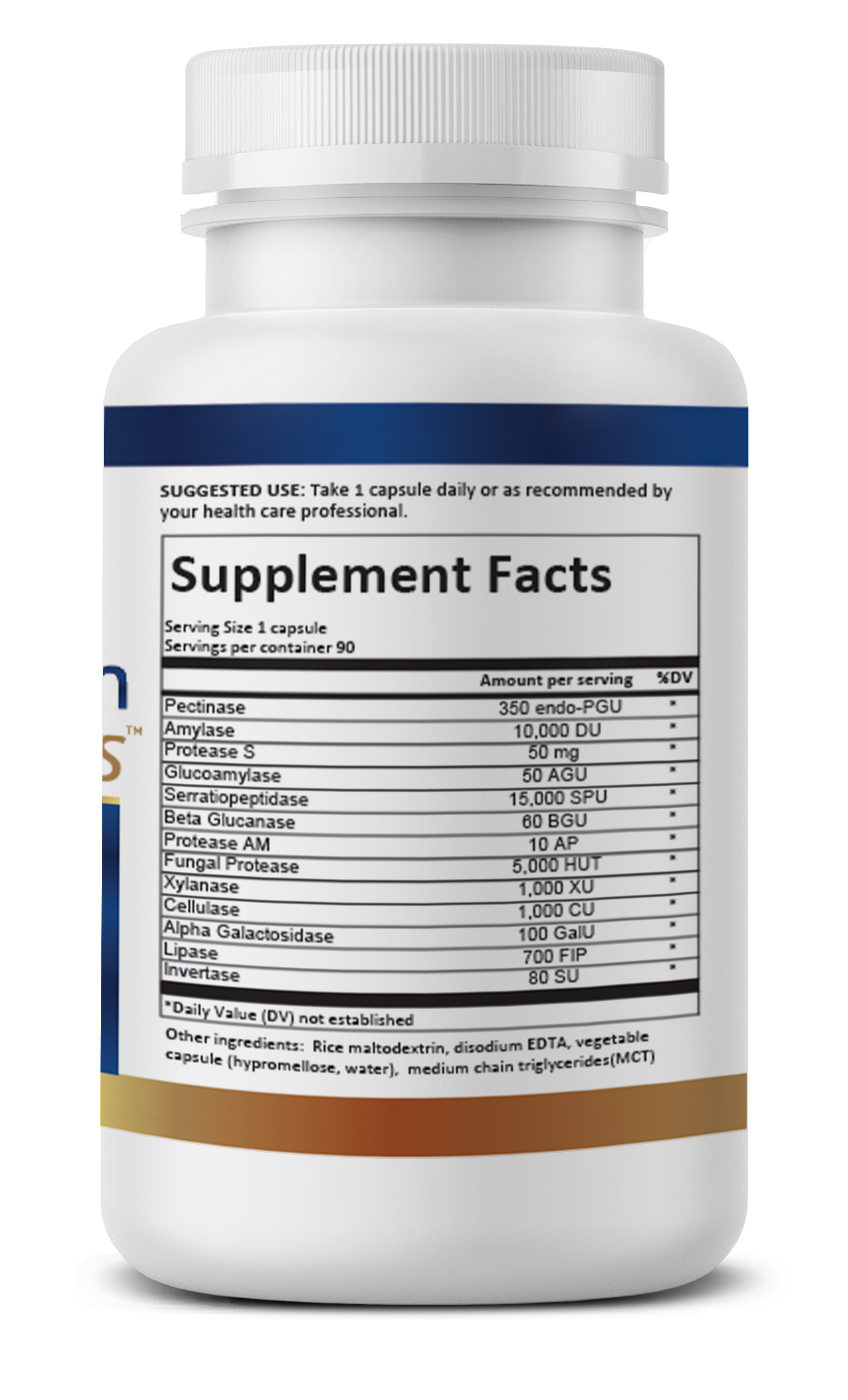 MucoSolve Supplement facts label