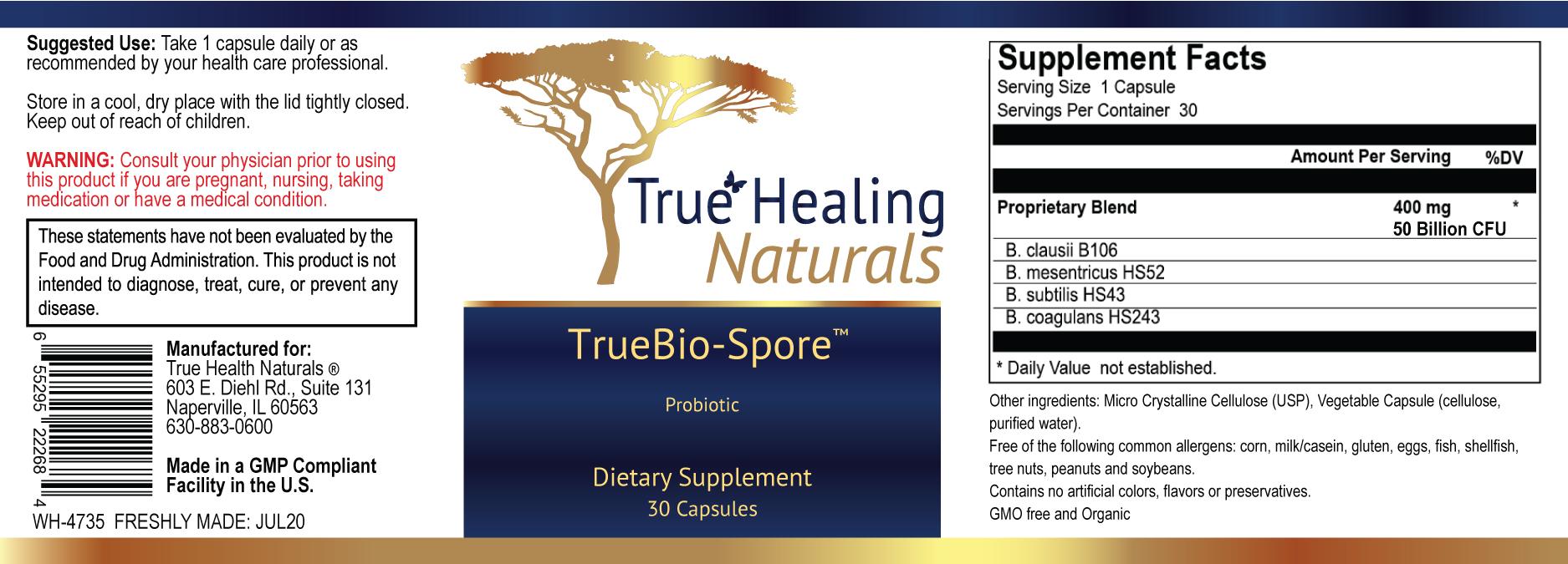 TrueBio-Spore label
